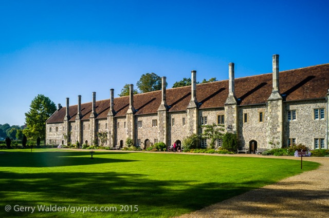 The Brothers Quarters at the Hospital of St. Cross in Winchester, England home a number of single men in a charitable environment.