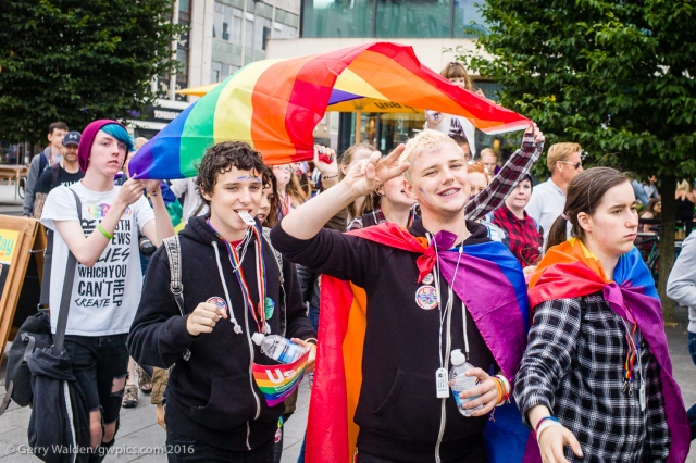 The Pride Parade celebrating sexual preferences and orgainised by the LGBT community makes it's way through Southmpton for teh first time in more than a decade.