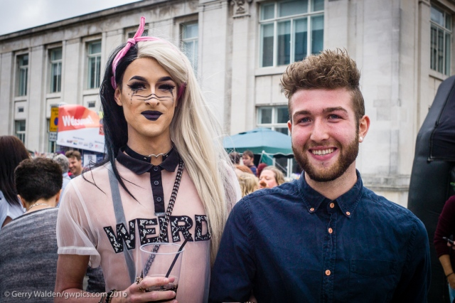 A couple pose proudly for the camera at the Southampton Pride event, held in the city for the first time in more than a decade.