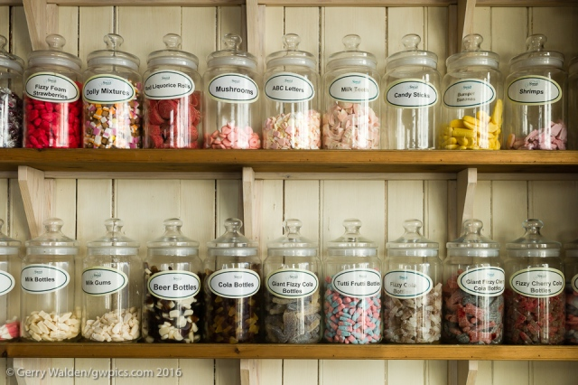 Rows of sweet jars on the shelves of Sweet Corner in the small Hampshire town of  Bishops Waltham invoke memories of childhood in a world of prepacked heavily marketed alternatives.