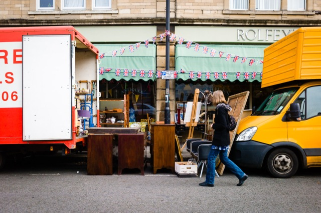 The antique store in Wells Road, Bath, England.